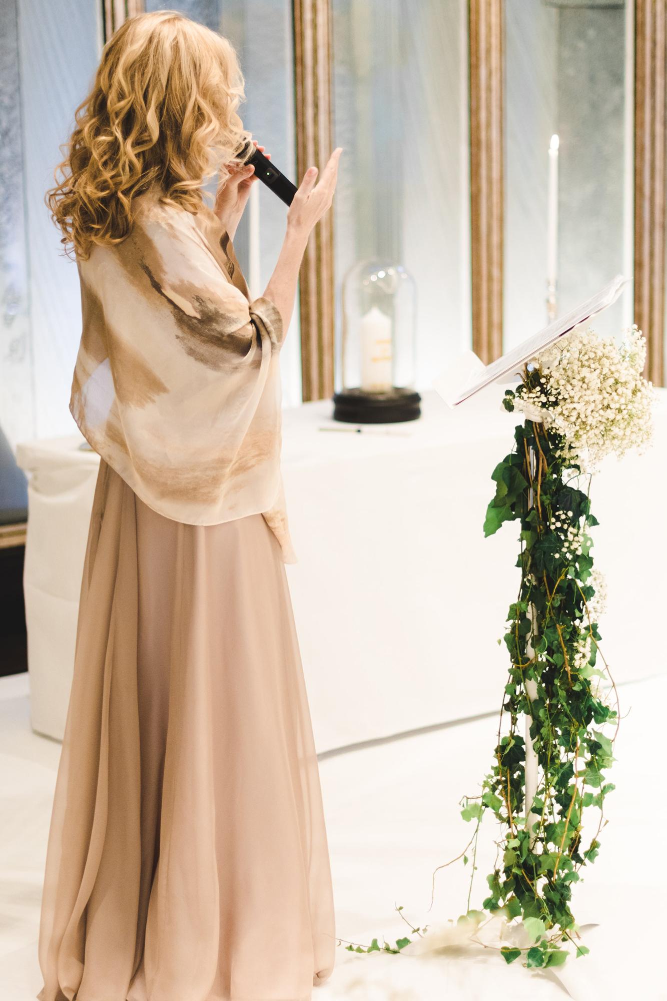 officiante chanteuse Ariane Douguet cérémonie laïque Haute couture